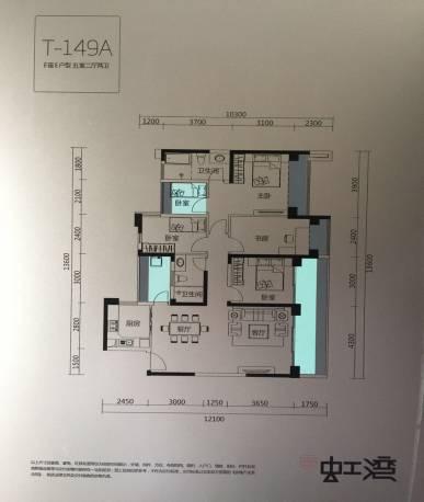 绿景虹湾5室2厅2卫